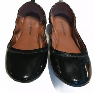 Lucky Brand Emmie Ballet Flats Patent Leather 9.5